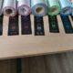 Barevné pásky pro potisk saténových a nylonových stuh
